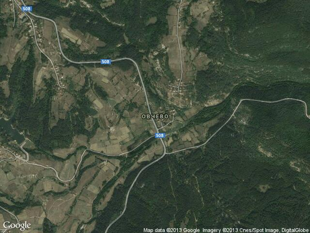 Сателитна карта на Овчево