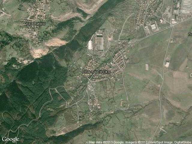Сателитна карта на Опълченско