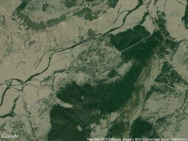 Сателитна карта на Орех