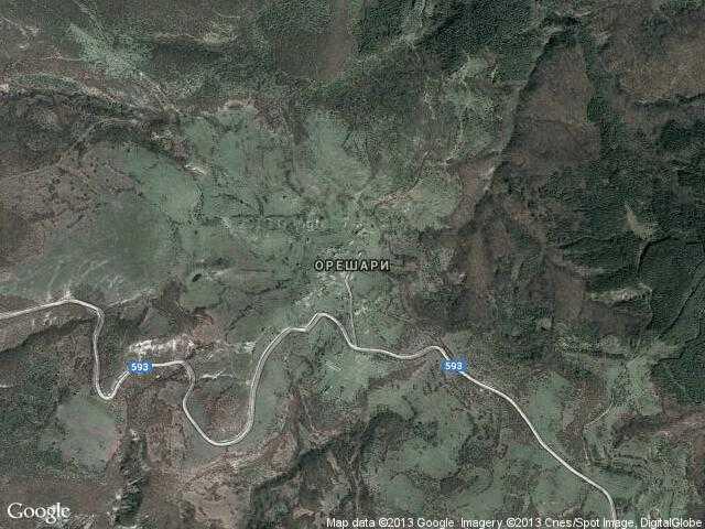 Сателитна карта на Орешари