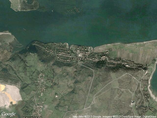Сателитна карта на Островица