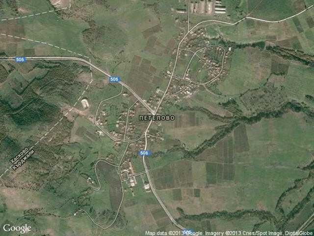 Сателитна карта на Петелово