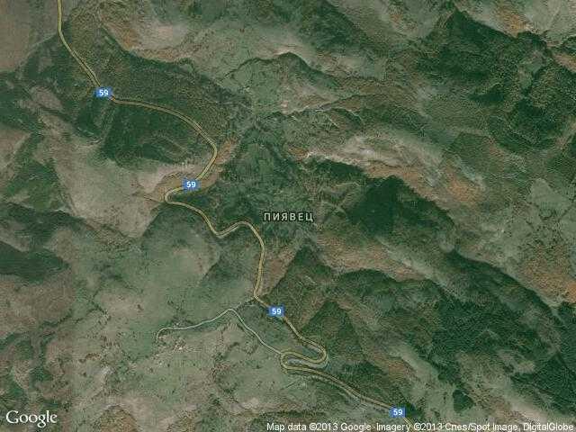 Сателитна карта на Пиявец
