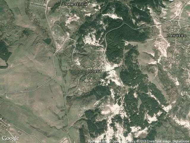 Сателитна карта на Повет