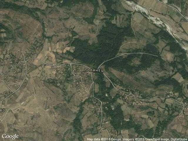Сателитна карта на Полянец