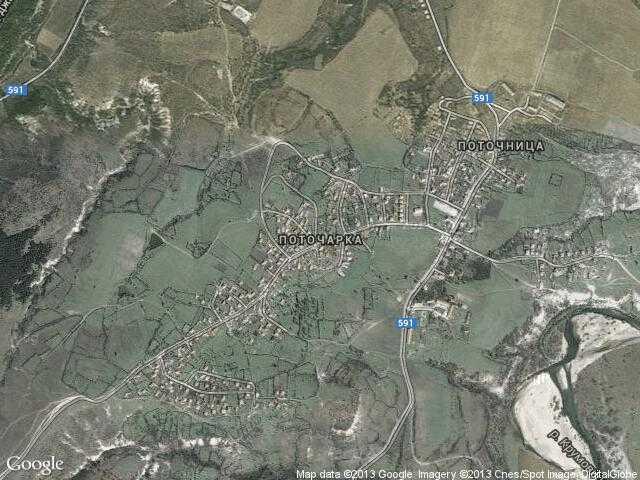 Сателитна карта на Поточарка