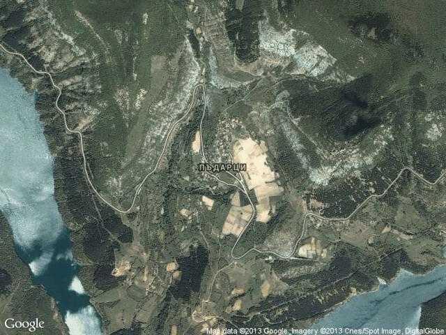 Сателитна карта на Пъдарци