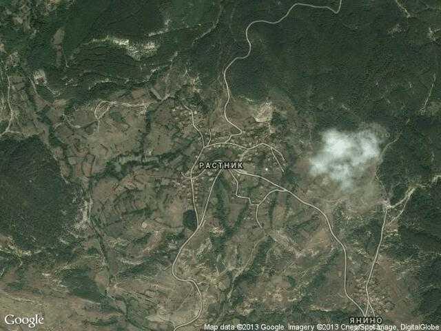 Сателитна карта на Растник
