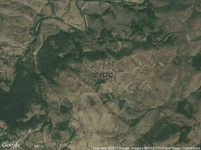 Сателитна карта на Рогозари