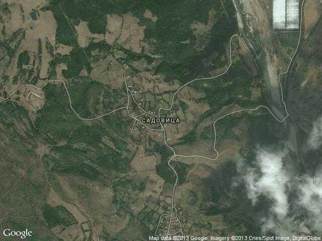 Сателитна карта на Садовица