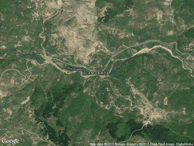 Сателитна карта на Самовила