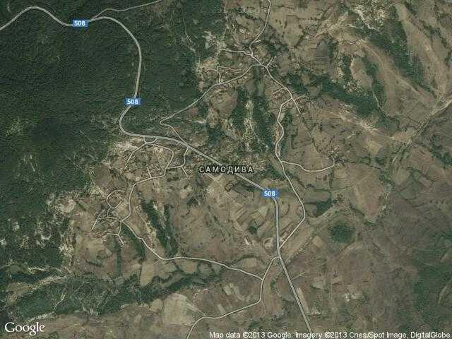 Сателитна карта на Самодива