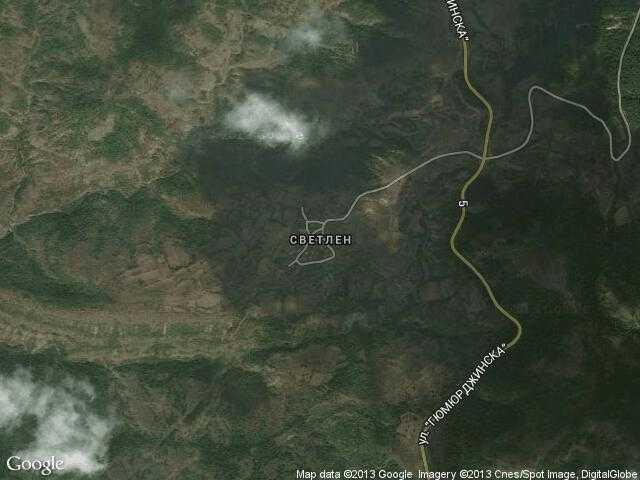 Сателитна карта на Светлен