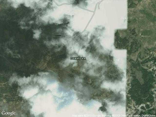 Сателитна карта на Секирка