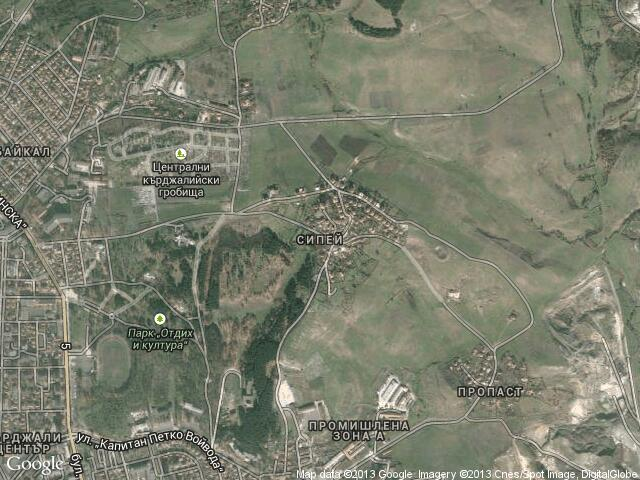 Сателитна карта на Сипей