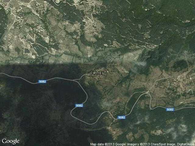 Сателитна карта на Сипец