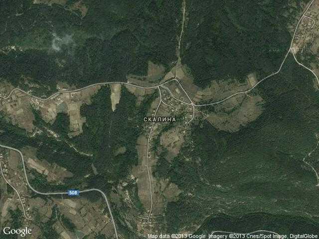 Сателитна карта на Скалина