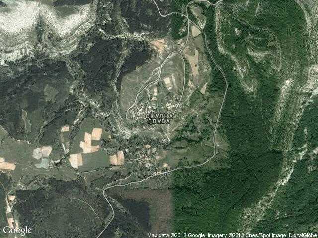 Сателитна карта на Скална глава