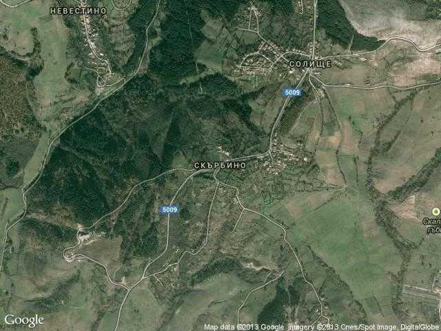 Сателитна карта на Скърбино