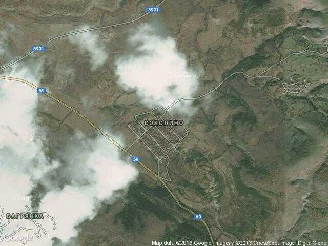 Сателитна карта на Соколино