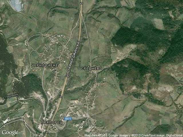 Сателитна карта на Среднево