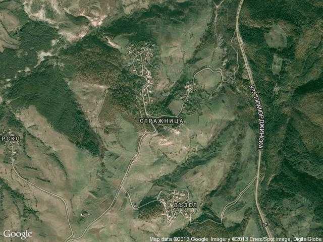 Сателитна карта на Стражница