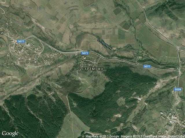 Сателитна карта на Стремово