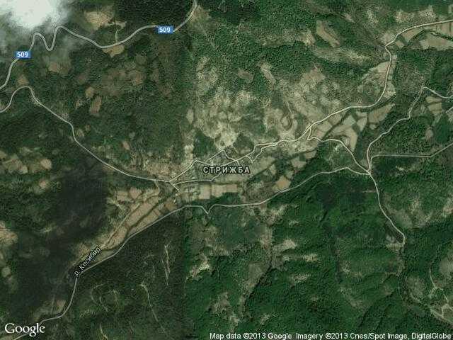 Сателитна карта на Стрижба