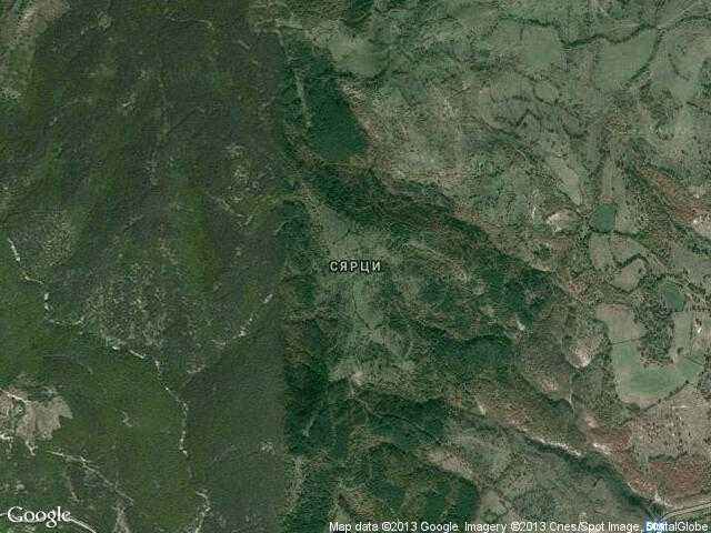 Сателитна карта на Сярци