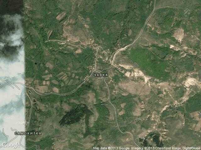 Сателитна карта на Чавка