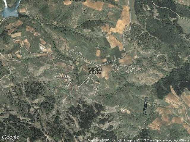 Сателитна карта на Черна нива