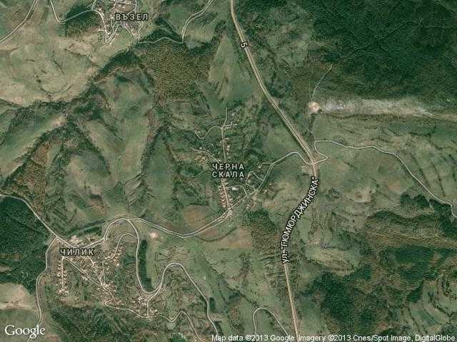 Сателитна карта на Черна скала
