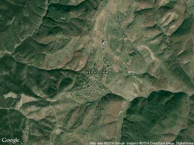 Сателитна карта на Чернооки