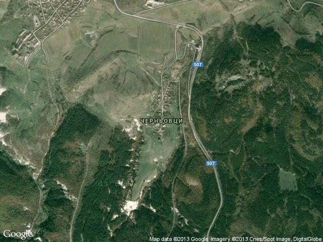 Сателитна карта на Черньовци