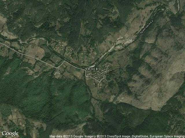 Сателитна карта на Чичево