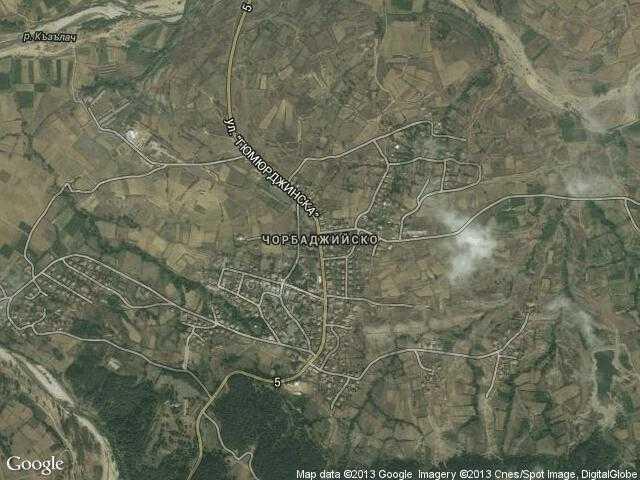 Сателитна карта на Чорбаджийско