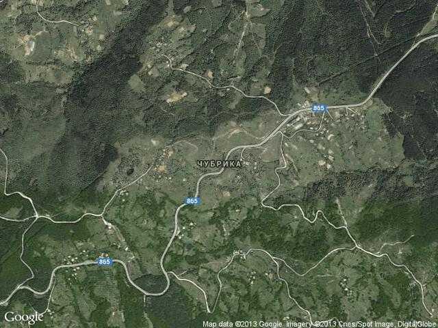 Сателитна карта на Чубрика