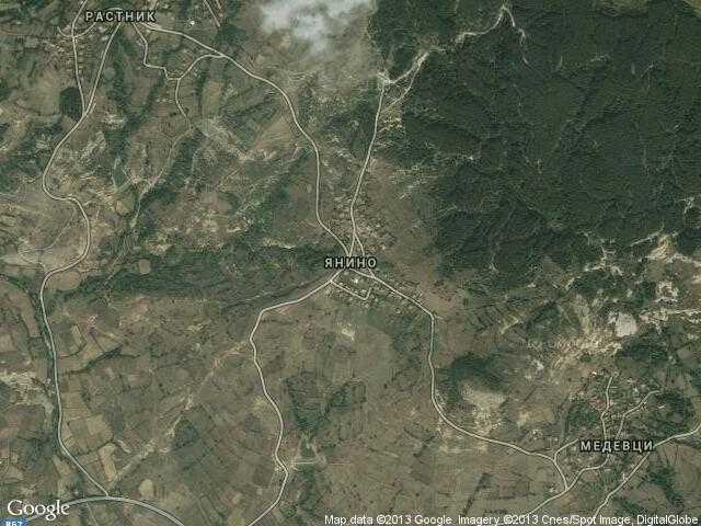 Сателитна карта на Янино