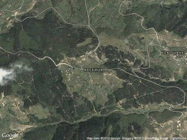 Сателитна карта на Яребица