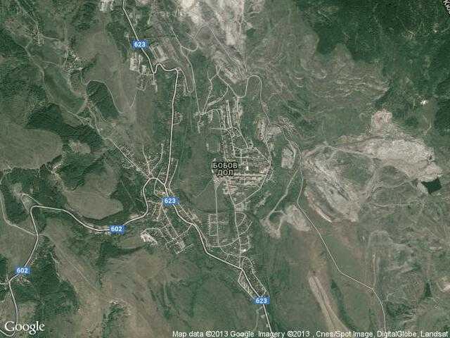 Сателитна карта на Бобов дол