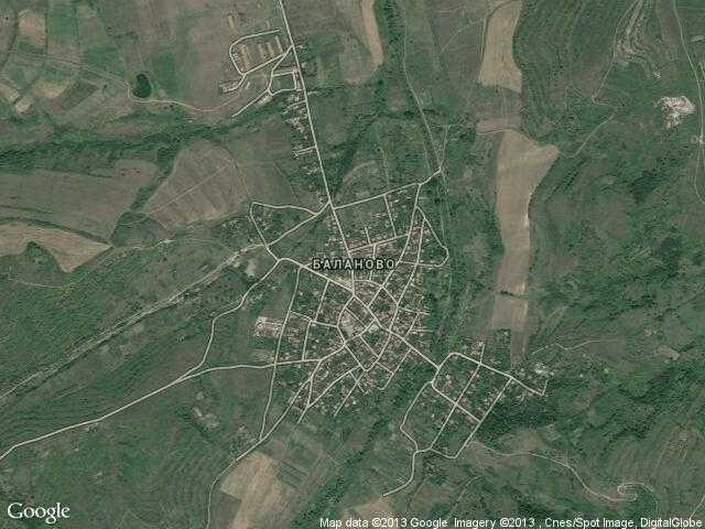 Сателитна карта на Баланово