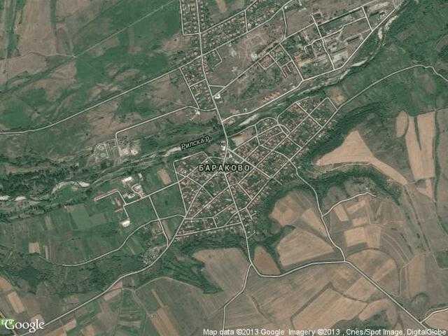 Сателитна карта на Бараково