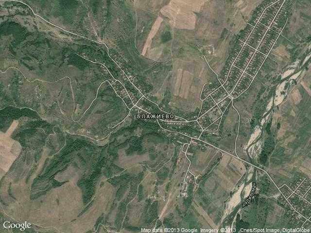 Сателитна карта на Блажиево
