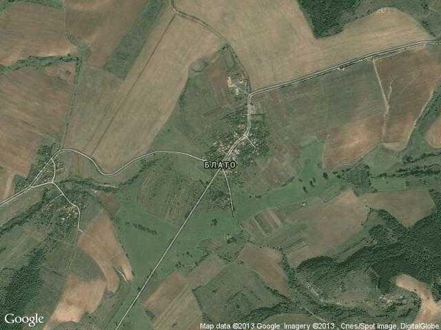 Сателитна карта на Блато