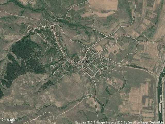 Сателитна карта на Бураново