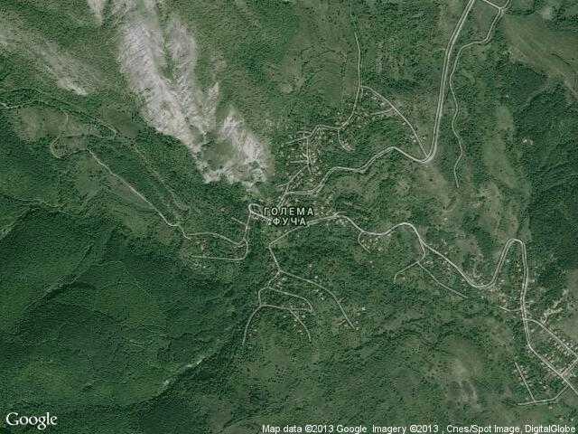 Сателитна карта на Голема Фуча