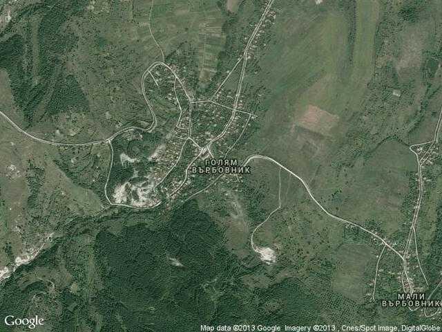 Сателитна карта на Голям Върбовник