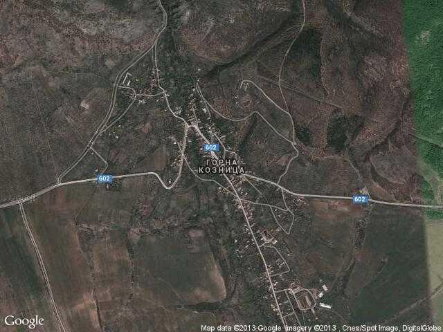 Сателитна карта на Горна Козница