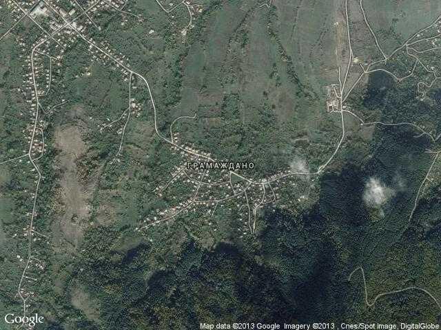 Сателитна карта на Грамаждано