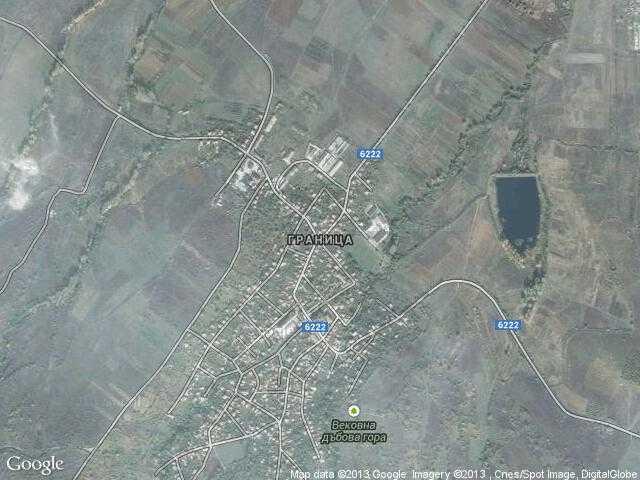 Сателитна карта на Граница